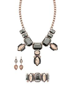 nicole by Nicole Miller  necklace,earrings, and bracelet
