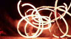 Firedancers on the beach in Koh Samui