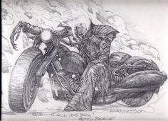 Ghost Rider by Bernie Wrightson.