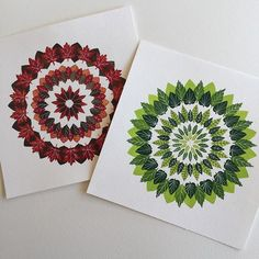 Summer and Fall Mandalas (Claudia Calderas)