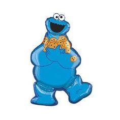 "Cookie Monster 31"" Birthday Mylar Shape Balloon Decorations Supplies Sesame Street"