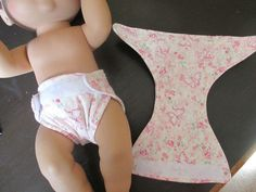 """12"""" Doll Clothes 2 Quilted Lining Velcro Diapers Baby Alive Girl Pinks 