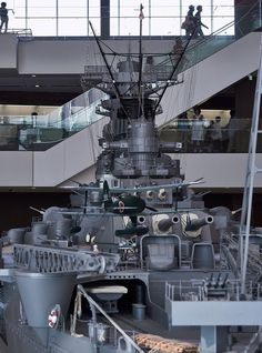 1/10 IJN Battleship Yamato Model @ Yamato Museum, Kure city, Hiroshima, Japan. 大和ミュージアム- 呉市海事歴史科学館, 広島県呉市宝町. #8B