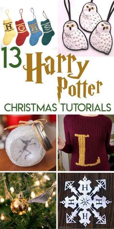 13 Harry Potter Christmas craft project tutorials for a magical wizarding holida., 13 Harry Potter Christmas craft project tutorials for a magical wizarding holiday season. Party Harry Potter, Harry Potter Fiesta, Décoration Harry Potter, Harry Potter Thema, Harry Potter Classroom, Harry Potter Birthday, Harry Harry, Harry Potter Skirt, Harry Potter Crafts Diy