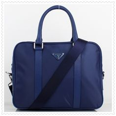 Prada men's nylon tote - perfect as a briefcase for documents and computer. Looks unisex to me.