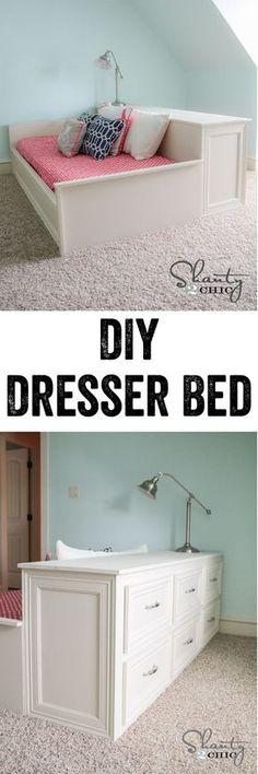 Easy 6-Drawer Dresser Free Plans! A dresser or a bed... So fun! www.shanty-2-chic.com