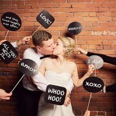 cute idea for a wedding photobooth