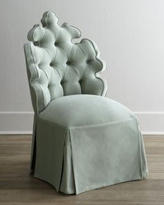 """Sitting Next To Bathtub, (Near Fireplace) """"Isabella"""" Vanity Seat by Haute House at Neiman Marcus."""