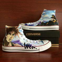 64e9e50cf475 Anime JoJo s Bizarre Adventure Design Converse All Star Hand Painted Shoes. Custom  Converse ...