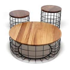 I like these.  We had a similar table design called the Salt Shaker table but they never made it to production. Good work.