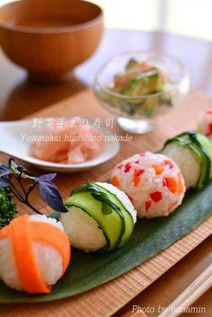 Vegetable Temarizushi, Japanese Sushi Balls 手まり寿司