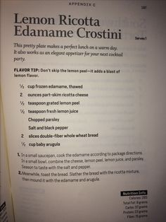 Lemon Ricotta Edamame Crostini - Body Reset Recipes