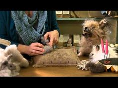 ▶ Needle Felting Instruction: Bunny Puff Episode 1, Body Head and Legs by Sarafina Fiber Art - YouTube
