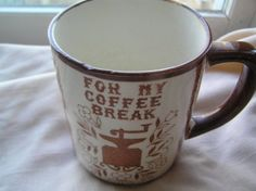Mug is in great condition; no chips, cracks, or crazing Perfect for the home office or work office Standard Shipping in US International buyers please contact us for shipping costs Thanks for looking; let us know of any questions