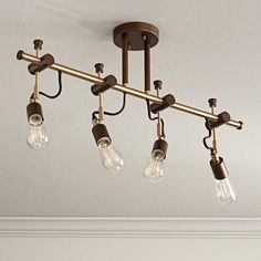 Pro Track Henning 4-Light Oil-Rubbed Bronze Track Fixture - #1G034   Lamps Plus