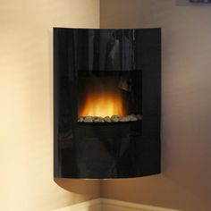 Be Modern Calisto Eco Wall Mounted Electric Fire Wall Mounted Electric Fires, Electric Fireplace, Oak Mantle, Gas Fires, Black Glass, Stove, New Homes, Lounge, Home Appliances