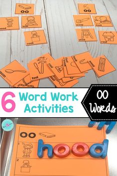 First grade students will have fun learning vowel digraphs, such as OO, with these 6 hands-on activities for word work stations. Teachers will enjoy how easy they are  to set up and manage.