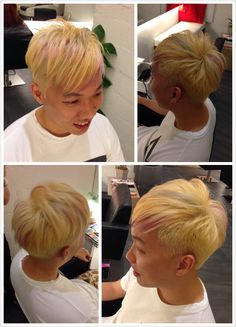 Remember him, Jianrong the IT guy? He did an intensive red hair tone 2 months ago with our senior stylist, Jess Ku. With his young and daring spirit, we decided to give another good colour on him!  With his previous lasting tone, a good wash down with bleaching is first needed. After which, Jess applied Goldwell Elumen Ash Purple + Blue highlight with gold silver tone to complete his whole look!   Seriously who can say now IT person is dull and boring!? We doubt so! Kudos!