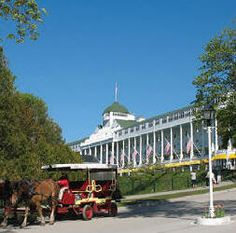 The Grand Hotel. Mackinaw Island, MI. Great times with my family.