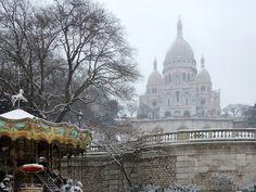 Montmartre sous la neige - Montmartre under snow - Montmartre unter Schnee