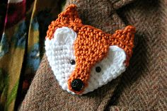 Fox brooch pattern - Ravelry
