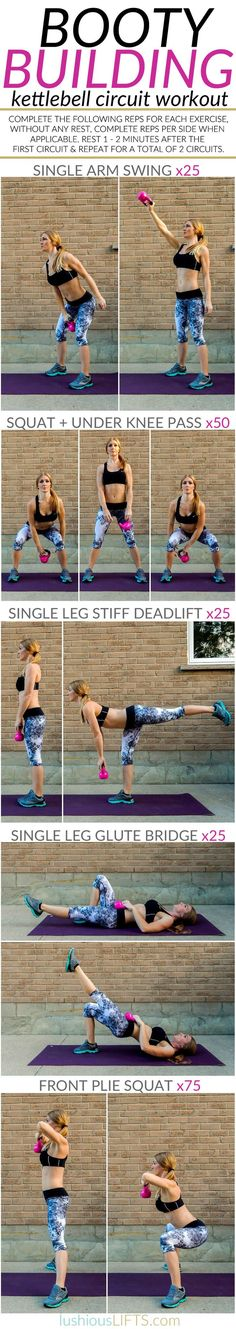 awesome booty building kettlebell circuit workout