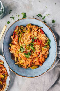 Easy Vegan Coconut Curry Noodle Bowls