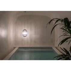 Saint Hotel in Oia, Santorini by Kapsimalis Architects - Outdoor Lounge, Outdoor Pool, Oia Greece, Hostels, Hotel Villas, Water Lighting, Light Water, Massage Room, Old Buildings