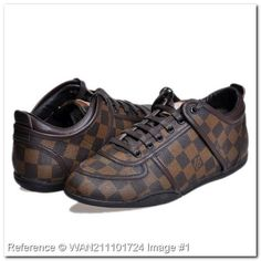 8ede4404540c7 Louis Vuitton Damier Ebene Canvas Scarpe da ginnastica Uomini €608.00  €98.00 84% di