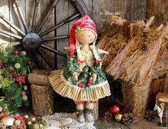 Интерьерные текстильные коллекционные куклы - рождественские ангелы. Отличный…