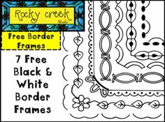 FREE Black and White Border Frames