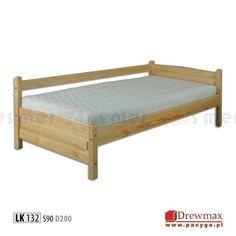 Łóżko sosnowe LK 132 90x200 Toddler Bed, Furniture, Home Decor, Templates, Single Beds, Child Bed, Decoration Home, Room Decor, Home Furnishings