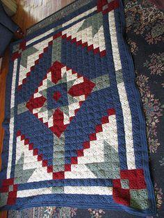Happy Yellow House.com - Desert Star Crochet Quilt - by C. L. Halvorson ~ free pattern