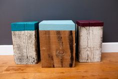 Kelly Maone's DIY stools for The Bold Italic office. Super simple. Super cute!