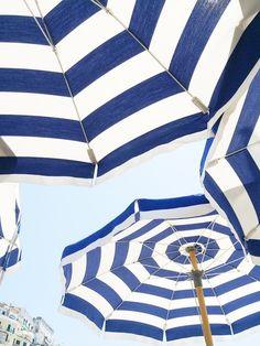 Amalfi Coast beach umbrellas