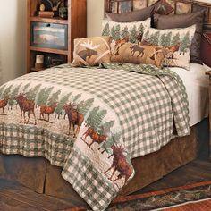 Rustic Bedding Sets, Black Forest Decor, Cabin House Plans, Blanket Cover, Quilt Bedding, Western Decor, Cabin Homes, Quilt Sets, Bedding Collections
