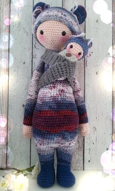Bina the bear made by Linda K. / crochet pattern by lalylala