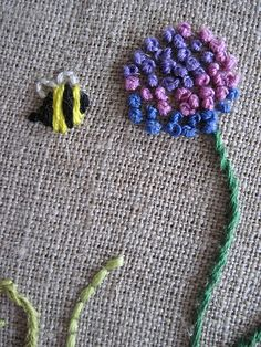 ≗ The Bee's Reverie ≗  embroidered bee