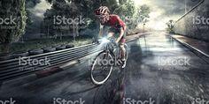 Profissional road Ciclista  - foto de acervo royalty-free