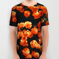 Orange Bloom All Over Print Shirt by Mixed Imagery | Society6