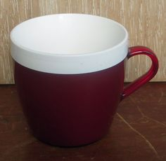 Vintage/Retro Insulex Cup/Mug Red/White Camping/Caravanning