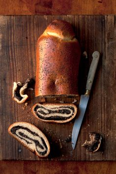 """Three scents accompany my memories of this place: cut wood, poppy-seed bread, and the soft, crisp smell of snow."" Elif Shafak, The Forty Rules of Love - Mak Pirog {Poppy Seed Strudel}(recipe) ""Filled with a moist, sweet poppy seed paste, this rustic yeast-dough roulade is a comfort food eaten throughout Eastern and Central Europe."""