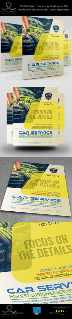 #Car Services #Flyer Template Vol.2 - Commerce Flyers Download here: https://graphicriver.net/item/car-services-flyer-template-vol2/20319048?ref=alena994