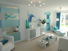 Blue room that is so beautiful try it out!!