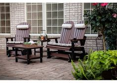 Outdoor Glider Set- Amish poly lumber- virtually zero maintenance! Beautiful!