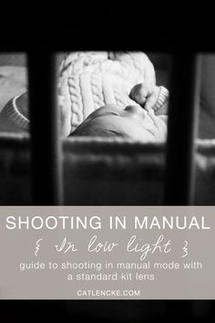 Take beautiful photos of your baby and children by learning to shoot in manual. This post focuses on low light indoor photography using a dslr and a standard kit lens. Mom and beginner friendly! Read through for camera settings and tips!