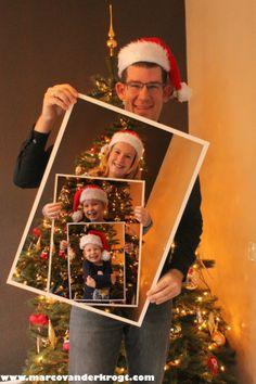 Familie, Kerstkaart, Samen in 1 foto
