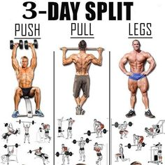 push pull workout routine It really a hard decision to choose you ideal workout routine. So i have brought to you, every information you will need to manage a routine. A perfect split is also mentioned below Gym Workout Chart, Workout Routine For Men, Gym Workout Tips, Weight Training Workouts, Fitness Workouts, Fitness Motivation, Push Pull Workout Routine, Routine Work, Push Pull Legs Workout