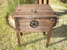 outdoor rustic cooler