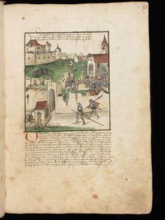 Bremgarten, Stadtarchiv Bremgarten, Bücherarchiv Nr. 2, f. 93r – Werner Schodoler, Eidgenössische Chronik, Vol. 2
